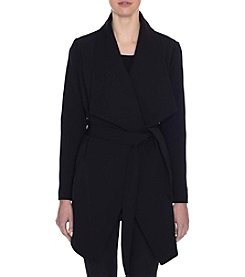 Tahari® Draped Trench Wrap Coat