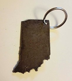 Pittman Design & Fabrication Indiana Keychain