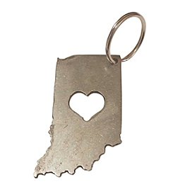 Pittman Design & Fabrication Indiana Heart Keychain