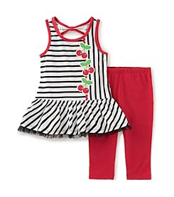 Kids Headquarters® Girls' 2T-6X 2-Piece Tunic & Capri Set