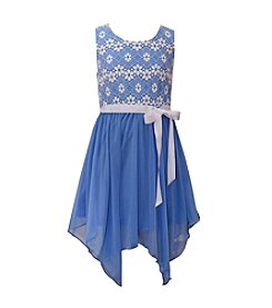 Bonnie Jean® Girls' 7-16 Two Tone Lace Dress