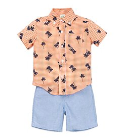 Little Me® Baby Boys Palm Tree Shirt And Shorts Set