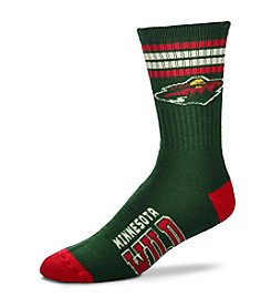 For Bare Feet NHL® Minnesota Wild Men's Duece Stripe Socks