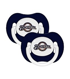 Baby Fanatic MLB® Milwaukee Brewers 2 Pack Pacifiers