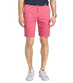 Izod® Men's Flat Front Beachtown Whale Shorts
