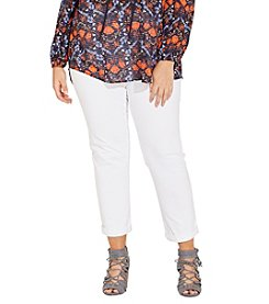 Jones New York® Plus Size Lexington Twill Ankle Pants