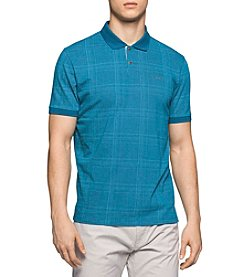 Calvin Klein Men's Short Sleeve Plaid Print Polo