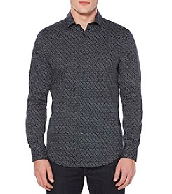 Perry Ellis® Men's Long Sleeve Polygon Shirt
