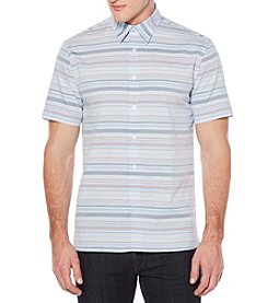 Perry Ellis® Men's Short Sleeve Multi Stripe Button Down Shirt
