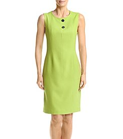 Kasper® Green Button Detail Dress