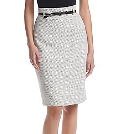 Nine West® Belted Tweed Skirt