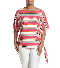 MICHAEL Michael Kors®  Plus Size Striped Tie Hem Top