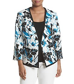 Kasper® Plus Size Floral Printed Jacket