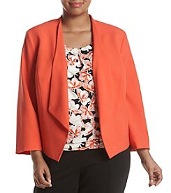Nine West® Plus Size Kiss Front Jacket