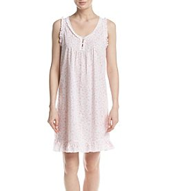 Miss Elaine® Cotton Pink Daisy Shirt Gown