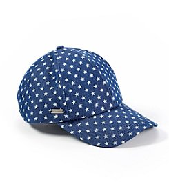 Steve Madden Dark Denim Lucky Star Baseball Hat