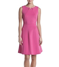 Ivanka Trump® Scuba Fit And Flare Dress