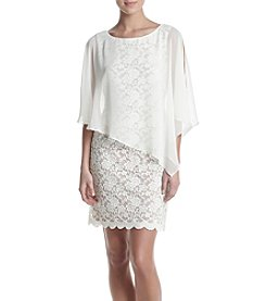 Connected® Lace Overlay Dress