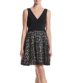 Xscape Lace Skirt Party Dress