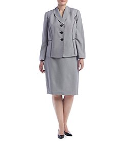 LeSuit® Plus Size Three Button Skirt Suit