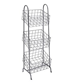 Linon Home Decor Products, Inc. 3-Tier Metal Basket Stand