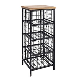 Linon Home Decor Products, Inc. Metal and Wood Drawer Unit