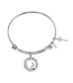 Disney®  Adjustable Wire Pave Tinkerbell Bangle Pave