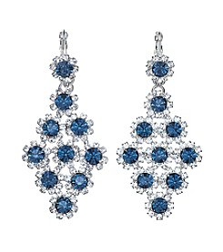 BT-Jeweled Kite Shaped Simulated Crystal Drop Earrings