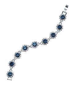 BT-Jeweled Simulated Crystal Burst Bracelet