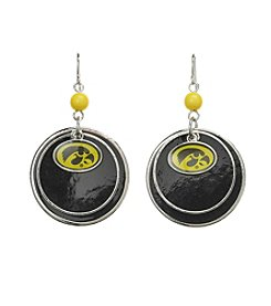 Studio Works® NCAA® Iowa Hawkeyes Overlay Drop Earrings