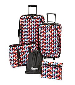 Travel Quarters Triangles 5-Pc. 2-wheeled Luggage Set