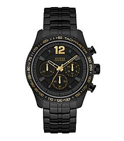 Guess Men's Black IP Chronograph Sport Watch