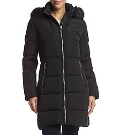 Ivanka Trump® Hooded Horizontal Seam Down Coat