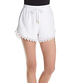 Kensie® Eyelet Dot Shorts