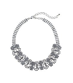 BT-Jeweled Clear Rhinestone Choker Necklace