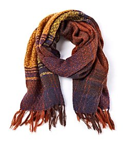 Steve Madden Super Textured Plaid Scarf
