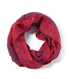 Basha Textured Sequin Mesh Loop Scarf