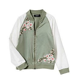 Amy Byer Girls' 7-16 Satin Bomber Jacket