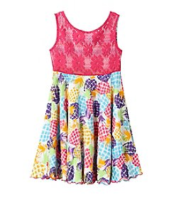 Sweet Heart Rose® Girls' 2T-6X Stripe Flip N Twirl Dress