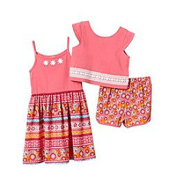 Sweet Heart Rose® Girls' 4-6X 3 Piece Popover Dress Set