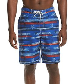 Paradise Collection® Men's Stars & Stripes Print Swim Shorts