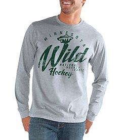 G III NHL® Minnesota Wild Men's Half Time Long Sleeve Tee