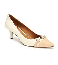 COACH LAURI CAPPED POINTY TOE PUMPS