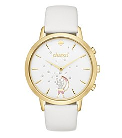 kate spade new york® Leather Metro Hybrid Smart Watch