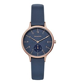Skagen Women's 34mm Anita Rose Goldtone Watch with Silicone Strap