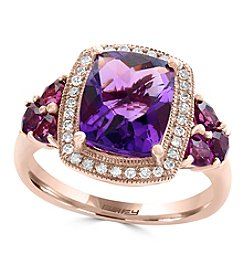 Effy® 14K Rose Gold 0.15ct. t.w. Diamond And Amethyst Ring