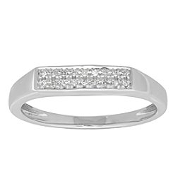 10K White Gold 0.04 Ct. T.W. Diamond Ring