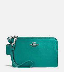 COACH SMALL WRISTLET IN CROSSGRAIN LEATHER