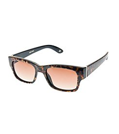 Nine West® Plastic Petite Chunky Rectangle Sunglasses
