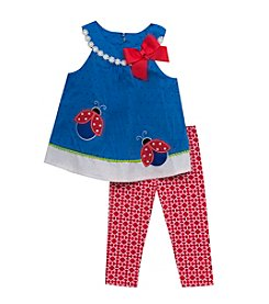 Rare Editions® Baby Girls' Clip Dot Ladybug Set